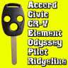 HONDA 3 Button Remote Replacement Key Shell Accord S2000 Civic Jazz CRV Odyssey