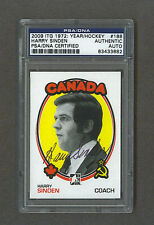 Harry Sinden signed Canada Cup 2009 In The Game hockey card Psa/Dna