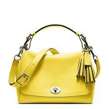 $398 NWT Coach Coach Legacy Leather Romy Top Handle Handbag 22383 Sliver/Lemon