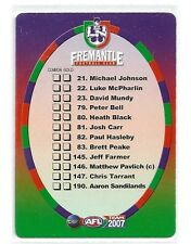 2007 TeamCoach FREMANTLE Check List