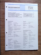 Service Manual für Telefunken TT 750 ,ORIGINAL