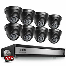 Zosi 16Ch H.265 Dvr 2Tb Hdd 1080p Home Video Surveillance Security Camera System