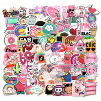 110Pcs Cute Pink Stickers Bomb Waterproof Skateboard Luggage Laptop Vinyl Decals