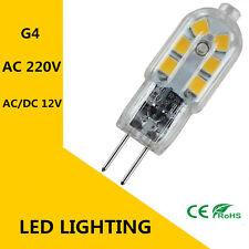 G4 LED Cuentas AC220V DC / AC12V 3W bombilla LED SMD2835 360 haz luz lámpara