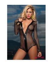 Black Stunning Fishnet Bodysuit 10 12 14 One Size Lingerie womens gift Christmas