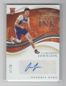 2019-20 Panini Immaculate CAMERON JOHNSON /75 Auto Rookie Initiation Ink RC SUNS