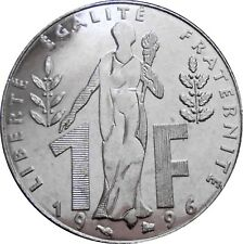 France 1 franc 1896-1996 KM#1160 100th Anniversary of Jacques Rueff