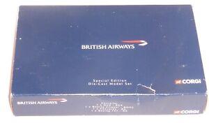 British Airways Corgi Special Edition Set Collectors Models Scale CSCA15004