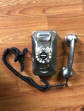 Silver Chrome Grand Wall Phone Telephone Vintage Style