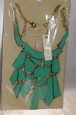 NEW! NWT! AMRITA SINGH Turquoise Enamel BROOME Statement Necklace NKC5026 $120