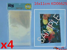 120pcs Clear Premium Peel & Seal Cello Cellophane Bag 16x11cm KD06625x4