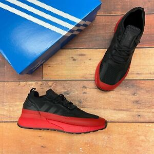 Adidas Men's ZX 2K Boost Black/Red Running Shoes H67584