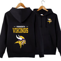 Minnesota Vikings NFL Hoodie Unisex Sweater Pullover Fan Edition Hooded Coat