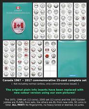 1967~2017 - Canada Commemorative 25-cents Complete Set - BU & PL - All Mint!