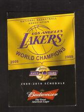 Los Angeles Lakers--2009-10 Pocket Schedule--Bud Light