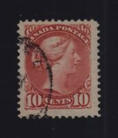 Canada Sc #45 (1897) 10c Brown Red Small Queen F-VF Used