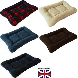COSY PADDED DOG BED, CRATE MAT LINER, BLOWN FIBRE SURROUND, MANY COLOURS & SIZES