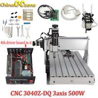 CNC 3040Z-DQ 3-axis Router 500W Engraving Mach 3 USB Cutting Machine 110V/220V