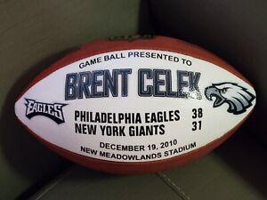 🇺🇸🏉 Eagles v Giants Brent Celek Presentation Wilson Game Used Ball Football