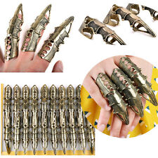 Punk Gothic Full Finger Armor Talon Claw Robot Metal Armoring Joint Knuckle Ring