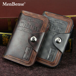 Mens Leather Wallets Designer RFID SAFE Contactless Card Blocking ID Protection