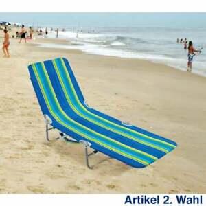 Rio Brands Liegestuhl mit Rucksack Funktion, gestreift, Strandstuhl Gartenliege