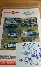 DECALS 1/43 REF 0787 VW VOLKSWAGEN POLO S1600 DUEZ BOUCLES DE SPA 2004 RALLY