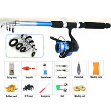 1.8m Telescopic Carp Fishing Rod and Reel Combo Full Kit Pole Spinning Reel US