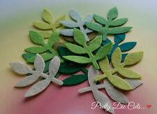 Felt Leaf Pack (8) Die Cut Floral Foliage, Felt Leaves, Craft Embellishments