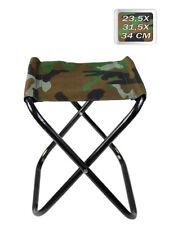 Sgabello pieghevole militare portatile campeggio sedia pesca pratico e comodo