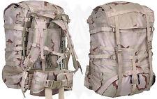 NEW  CONDITION desert molle equipment rucksack..military surplus..4 parts