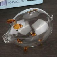 Piggy Transparent Savings Bank Tin Box Coin Box Saver Cash Savings Collectible