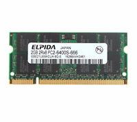 2GB 2RX8 DDR2 800MHz PC2-6400S 200PIN 1.8V Non-ECC SO-DIMM Laptop CPU Memory RAM