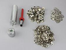 Oval Einschlagstempel Locheisen 17 x 11 mm  + 50 Ösen Nickel + 50 Drehverschluß