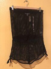NWT ~ VICTORIA'S SECRET Romper Jumpsuit Shorts Black Swimsuit Cover Up - Size S