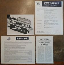 JEFF UREN FORD CORTINA MK2 SAVAGE orig 1969 Info Pack with Photo - Race Proved