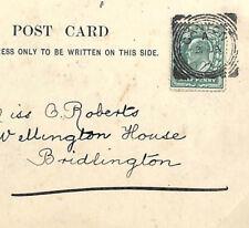 EE138 1904 GB SQUARED CIRCLES Superb *Ganton* Yorks RF425 RARE Postmark Postcard
