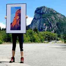 Stawamus Chief, Squamish Street Banners, Abstract Landscape Art Print  - 24x36