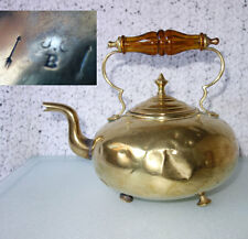 Antique James Clews Birmingham JCB Brass Tea Pot Toddy Kettle Country Decor LEAK