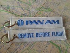 Pan Am airline remove before flight keyring keychain USA vintage