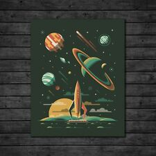"DKNG Aquarius (16""x20"" Rocket/Galaxy/Outer Space Silkscreen Art Print/Poster)"