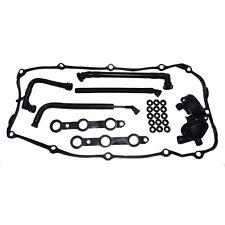 CRANK CCV CASE VALVE & BREATHER HOSE &COVER GASKET Kit For BMW E46 E39 E60 E61