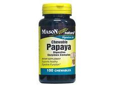 PAPAYA DIGESTIVE ENZYME COMPLEX  100 CHEWABLES TABLETS Digestive Aid