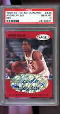 1999 Sage SA-GE Red ROOKIE Andre Miller Signed AUTO Autograph Graded PSA 10 Card