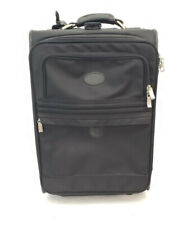 Atlantic Carry On Roller Suitcase 22 inches Extendable pull handle Black Ballist
