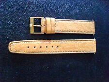 "Omega ""Tan Leather Strap/w. Gold Omega Buckle"" Marked 50 .... L@@K"
