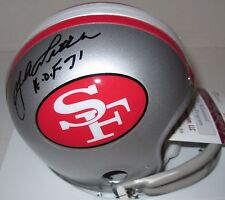 "49ers YA TITTLE  Signed Throwback San Fran Mini Helmet  AUTO w/ ""HOF '71""  JSA!!"