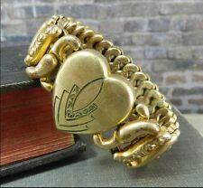 Vintage/ Antique American Queen- Pittman & Keeler Stretch Heart Bracelet