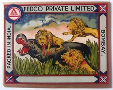 INDIA VINTAGE TREAD MILL LABEL-FEDCO PRIVATE LIMITED /SIZE -3.5X4.5 INCH