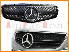10-13 M-BENZ C207 E350 E550 Coupe/Convertible Chrome/Black Front 2 Fins Grille
